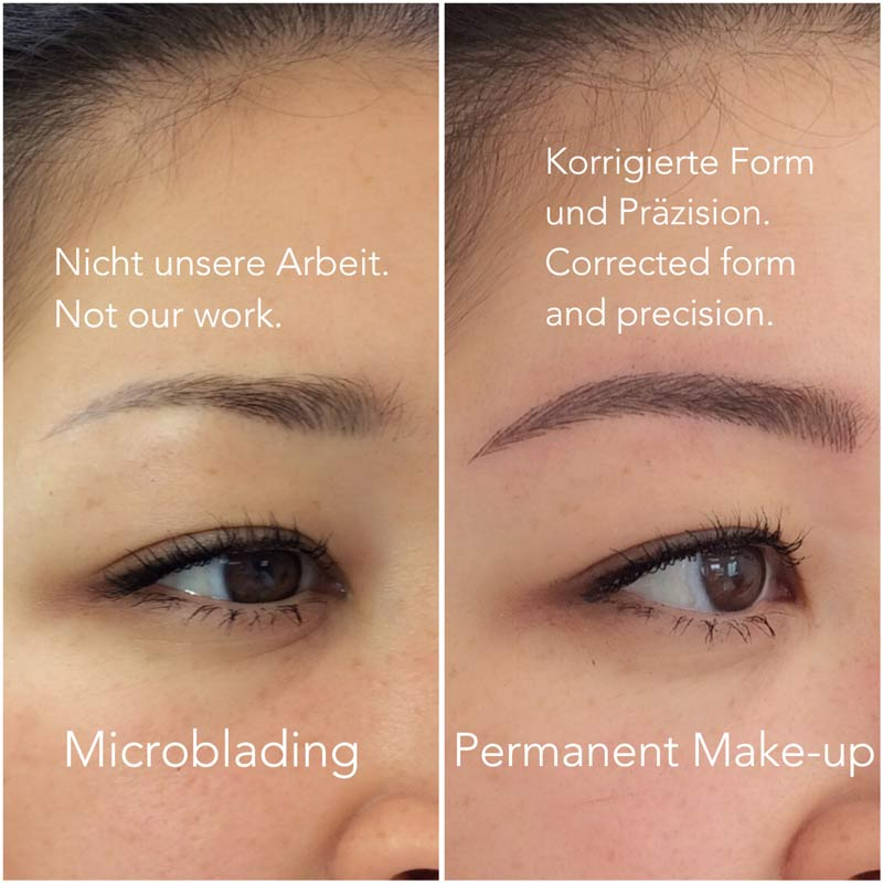 Unterschiede Microblading Permanent Make-Up